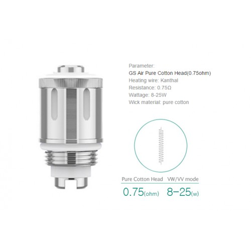 GS Air 2 0,75Ohm coil ELEAF clearomiser Ατμοποιητής