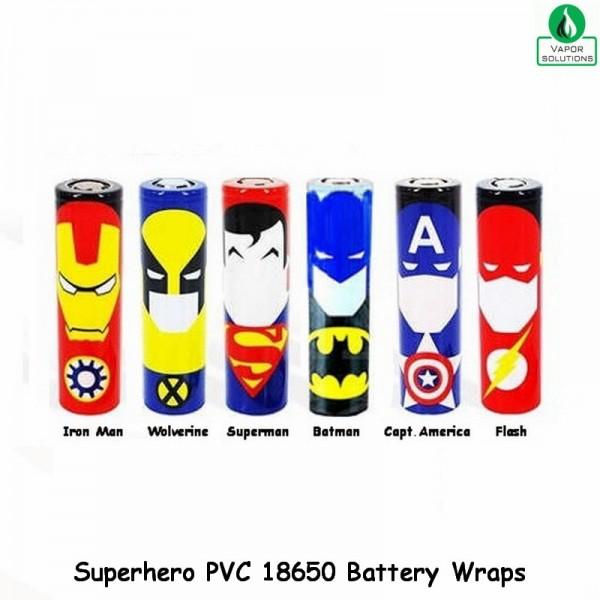 Superhero 18650 PVC Battery Wraps - Καλυμματα μπαταριας