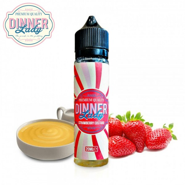 Strawberry Custard Dinner Lady Shake & Vape