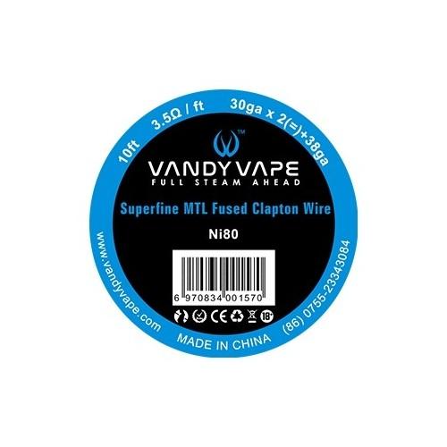 Vandy Vape 30-38 Superfine Fused Clapton Nichrome N80 wire Συρμα