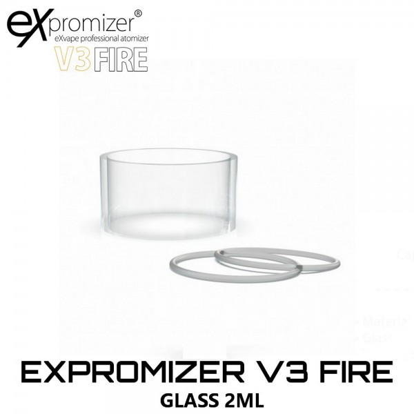 EXvape Expromizer V3 Fire Glass - Ανταλλακτικο Τζαμακι