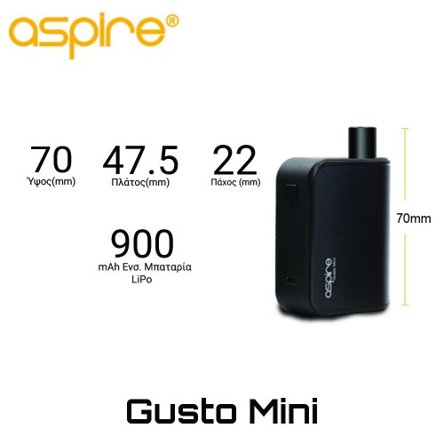 Aspire Gusto Mini AIO Starter Kit