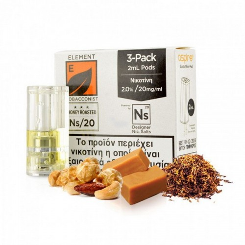 Element Nic Salt Honey Roasted Tobacco - 3xGusto Mini Pods