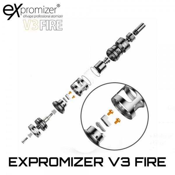 EXvape Expromizer V3 Fire RTA M2 Deck Screws Set Βιδες