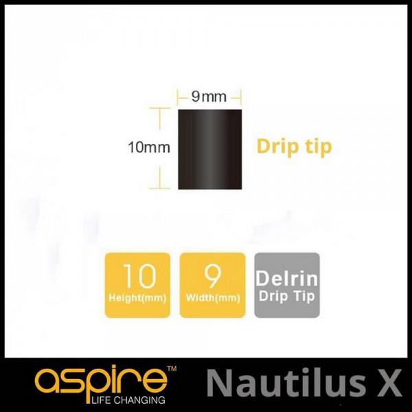 Aspire Nautilus X Drip tip Επιστομια