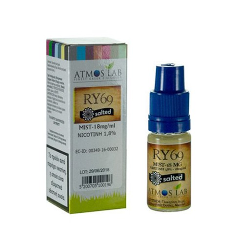 RY69 Atmos lab Nicotine Salts 18mg 10ml