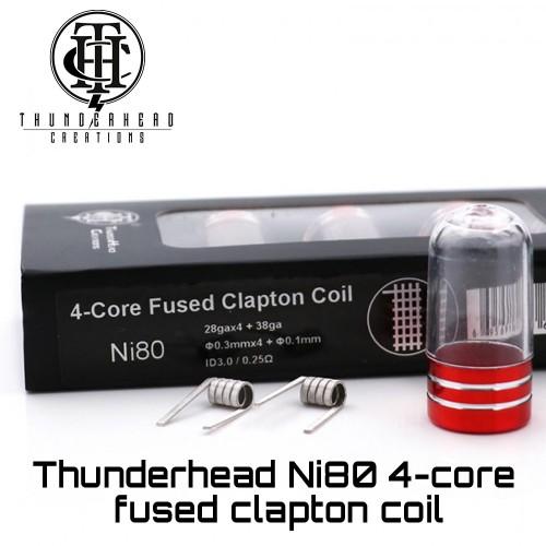 Thunderhead 4-Core Fused Clapton Ni80 Coils - Ετοιμες Αντιστασεις