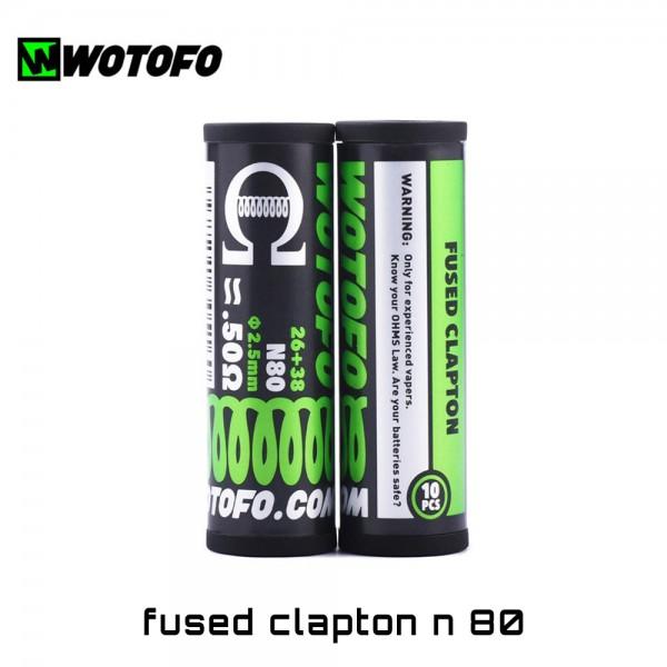 Wotofo Fused Clapton Ni80 Coils - Ετοιμες Αντιστασεις