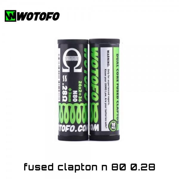 Wotofo 2-Core Fused Clapton Ni80 Coils - Ετοιμες Αντιστασεις