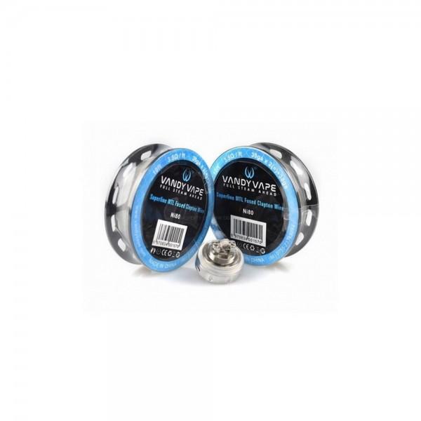 Vandy Vape 3238 MTL Superfine Fused Clapton Nichrome N80 wire Συρμα