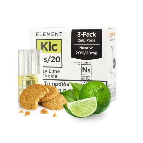 Element Nic Salt Key Lime Cookie - 3xGusto Mini Pods