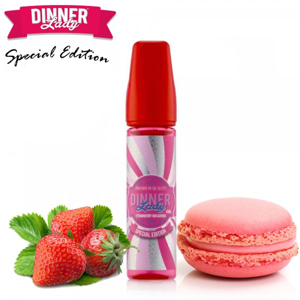 Strawberry Macaroon Dinner Lady Shake & Vape