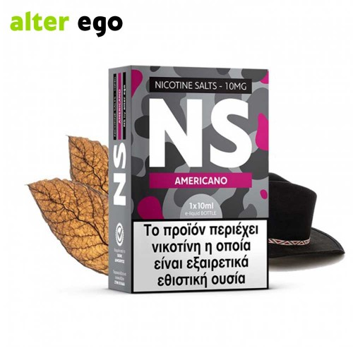 Alter ego NS Americano - Nicotine Salts 10ml