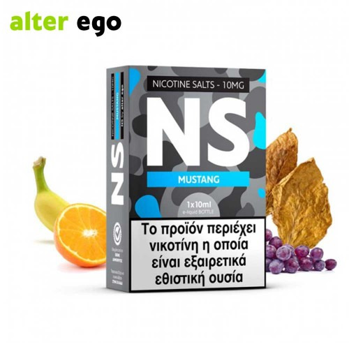 Alter ego NS Mustang - Nicotine Salts 20mg 10ml