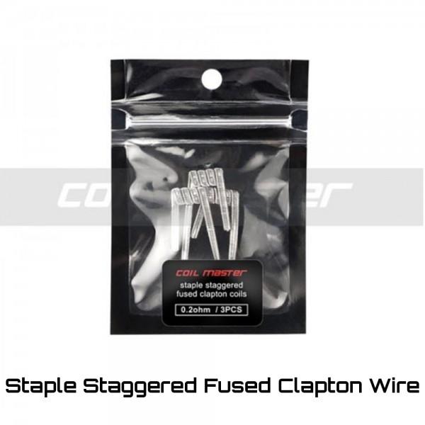 Coil Master Staple Staggered Fused Clapton Coils Ετοιμες Αντιστασεις