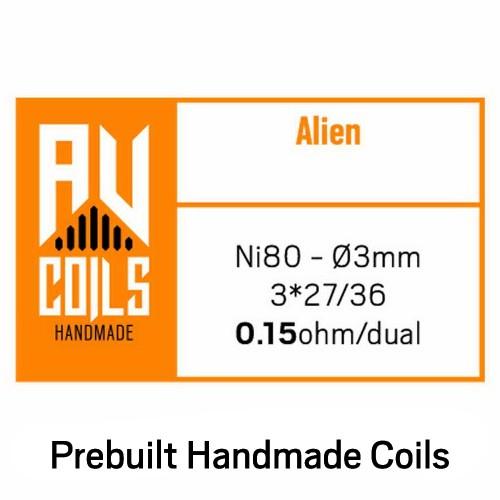 AV Coils Alien Ni80 0.21 Ohm Coils - Ετοιμες Αντιστασεις