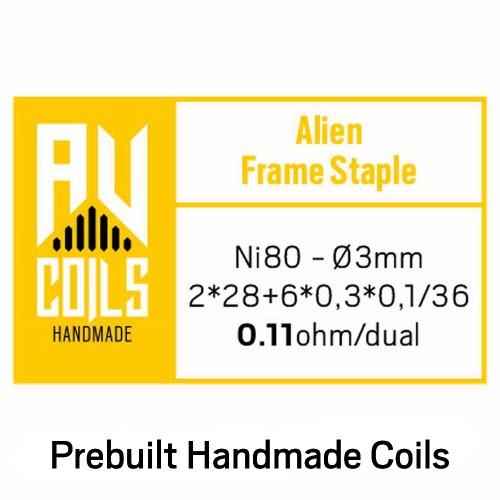 AV Coils Alien Frame Staple Ni80 0.11 Ohm Coils - Ετοιμες Αντιστασεις