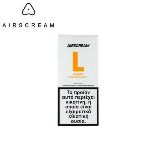 Airscream Pops Lemon S - 4x 1.2ml Pods