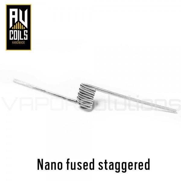 AV Coils Nano Fused Staggered Ni80 0.65 Ohm Coils - Ετοιμες Αντιστασεις