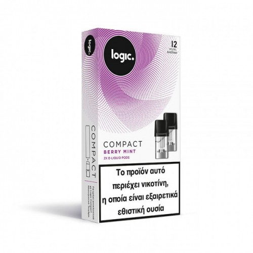 Berry Mint Logic Compact 2x Pods κάψουλες