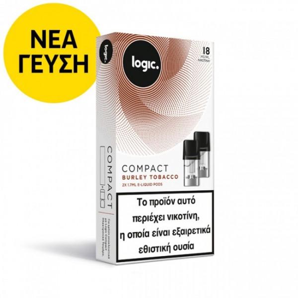 Burley Tobacco Logic Compact 2x Pods κάψουλες