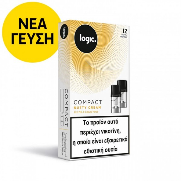 Nutty Cream Logic Compact 2x Pods κάψουλες