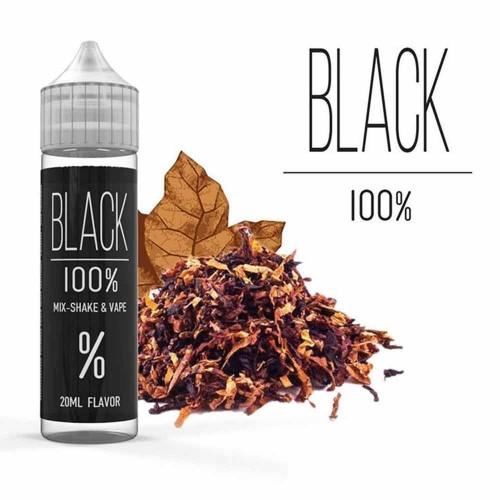 100% Black Flavor Shot 20/60ml