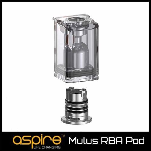 Aspire Mulus 3.8ml RBA Pod - Ανταλλακτικο Δοχειο Επισκευασιμη Κεφαλη