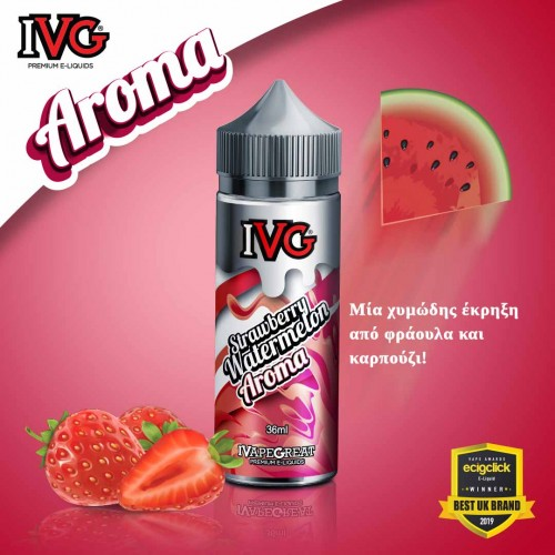 IVG Strawberry Watermelon Shake and Vape 36/120ml