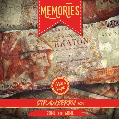 Memories 100 Δραχμές STRAWBERRY CREAM 20/60ml