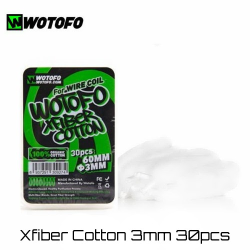 Wotofo Xfiber Cotton 3mm Οργανικο βαμβακι 30τμχ