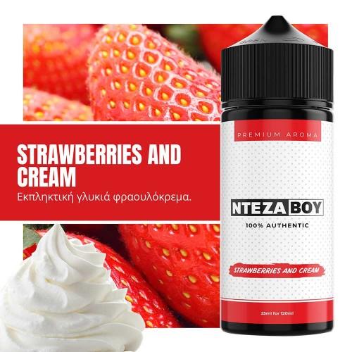 NTEZABOY Strawberries and Cream Shake and Vape 25/120ml