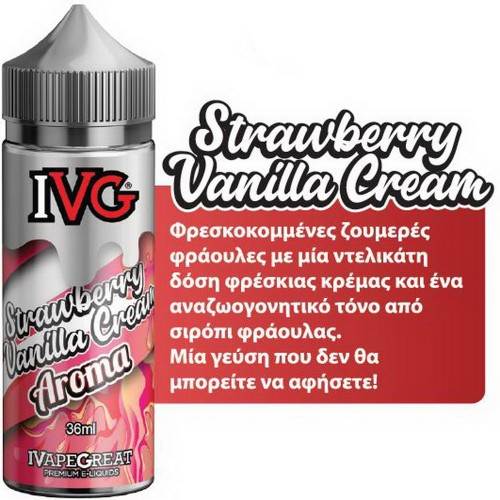 IVG Strawberry Vanilla Cream Shake and Vape 36/120ml