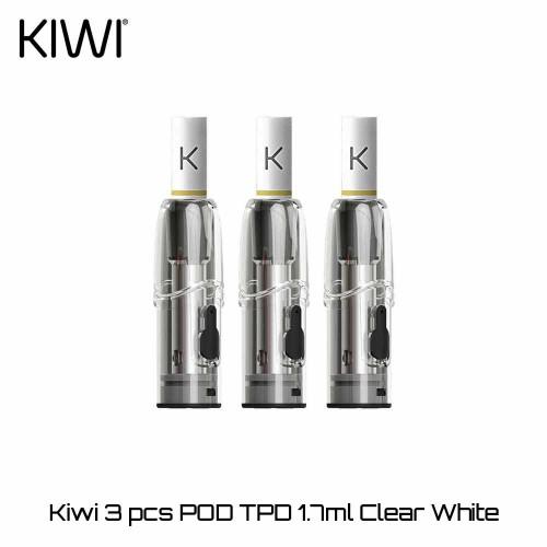 Kiwi 1.7ml Pods Clear White - Ανταλλακτικο Δοχειο Αντισταση