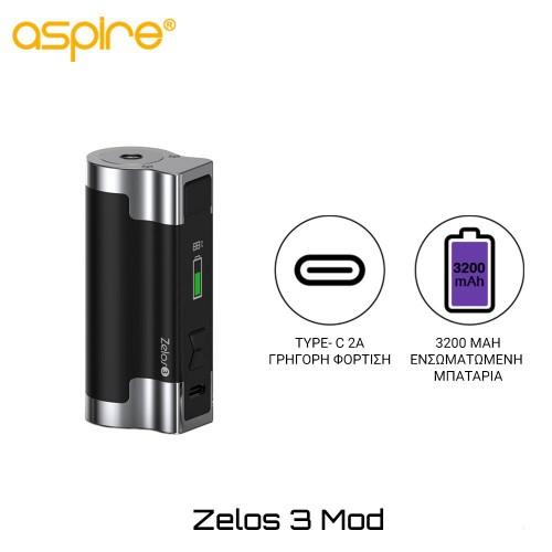 Aspire Zelos 3 Mod 3200mAh