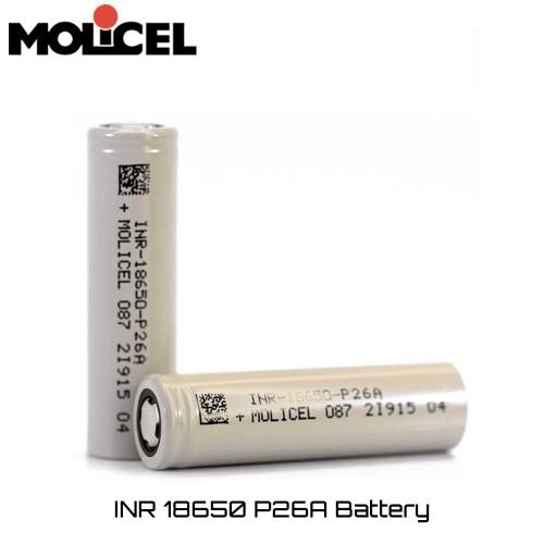 Μπαταρια Molicel INR P26A 18650 2600mAh 35A