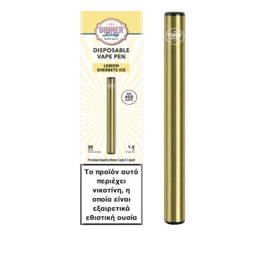 Dinner Lady Lemon Sherbets Ice Vape Pen Disposable 1.5ml 20mg