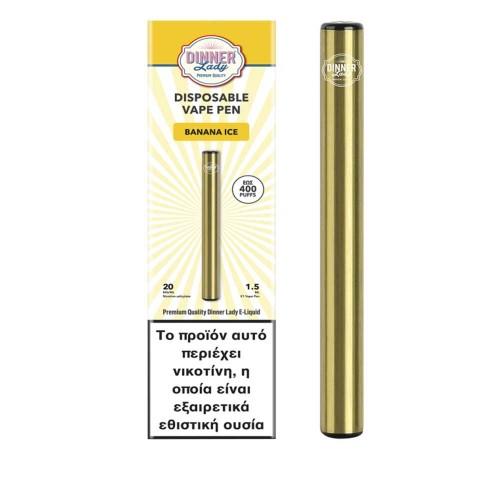 Dinner Lady Banana Ice Vape Pen Disposable 1.5ml 20mg