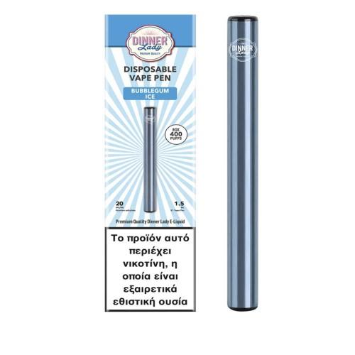 Dinner Lady Bubblegum Ice Vape Pen Disposable 1.5ml 20mg