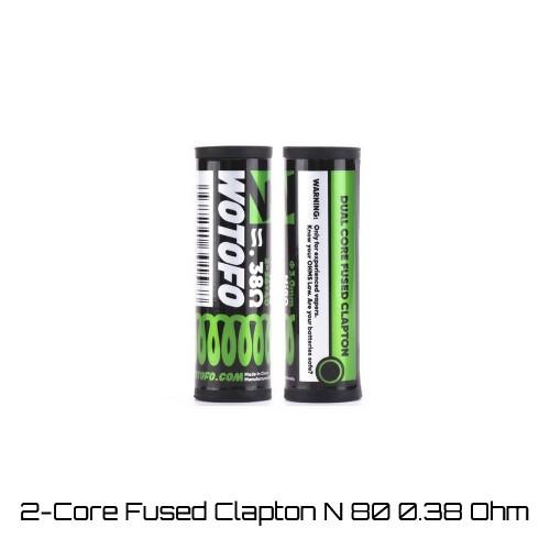 Wotofo 2-Core Fused Clapton Ni80 0.38 Ohm Coils - Ετοιμες Αντιστασεις