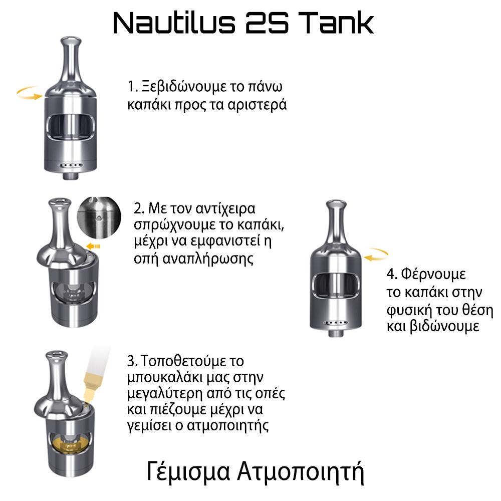 Aspire Nautilus 2S Αναπλήρωση Υγρού